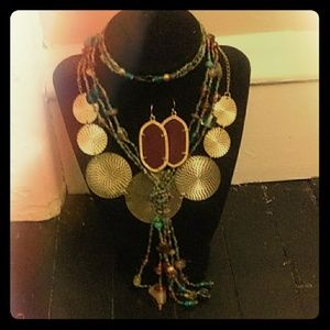 Jewelry - Vintage Bohemian Princess 3 piece Jewelry Set